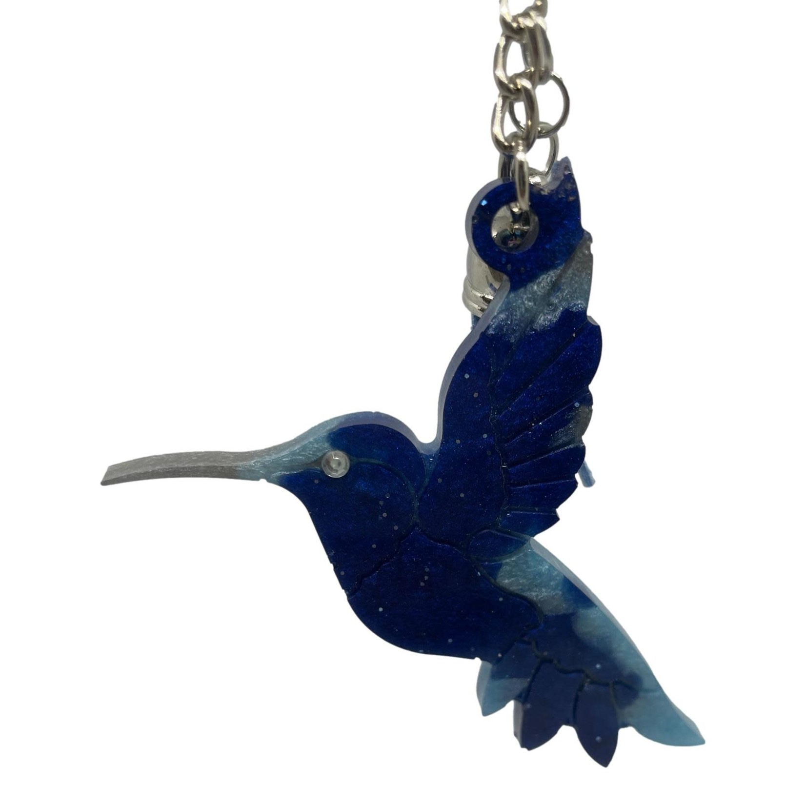 East Coast Sirens Blue Hummingbird Key Chain