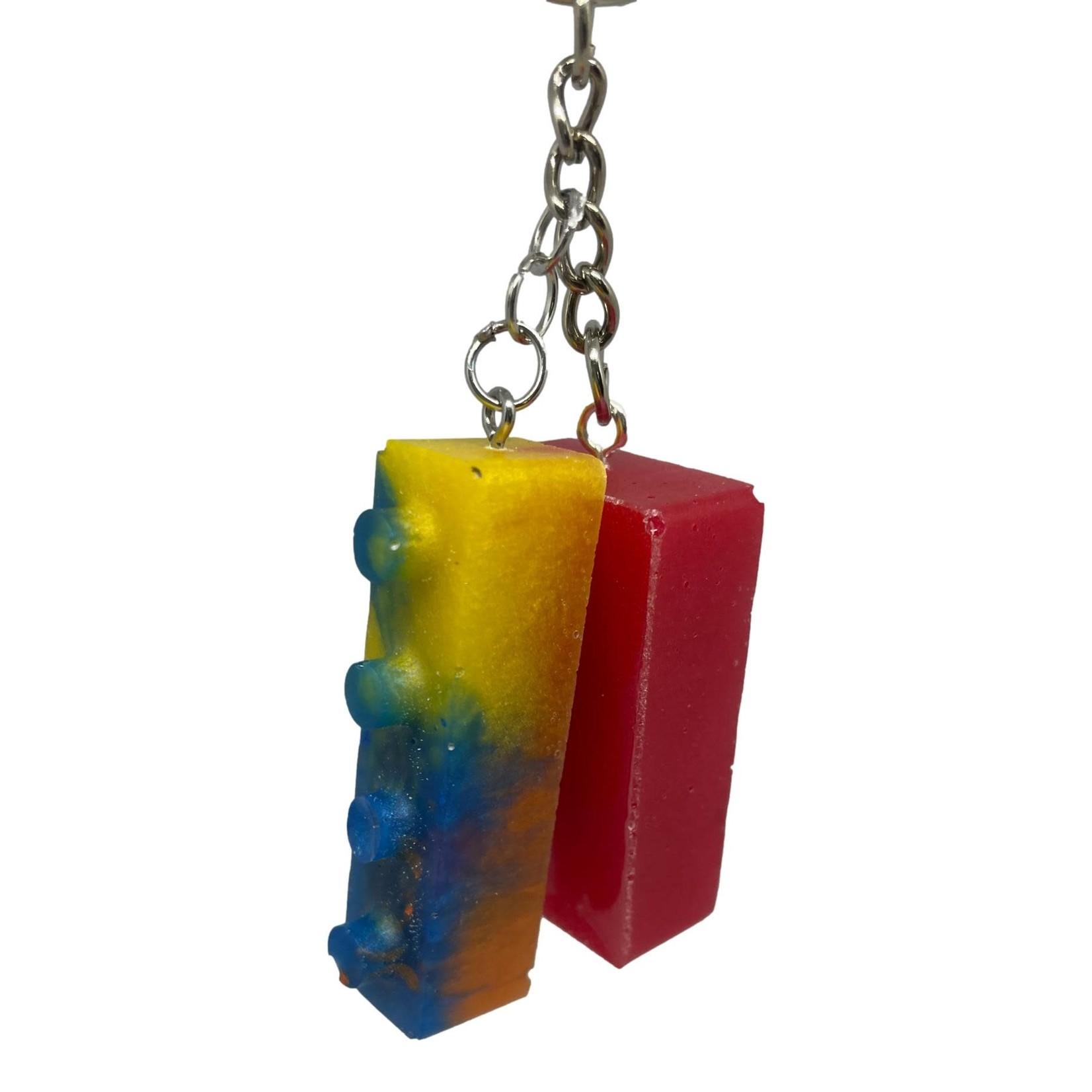 East Coast Sirens Red & Yellow Lego Key Chain