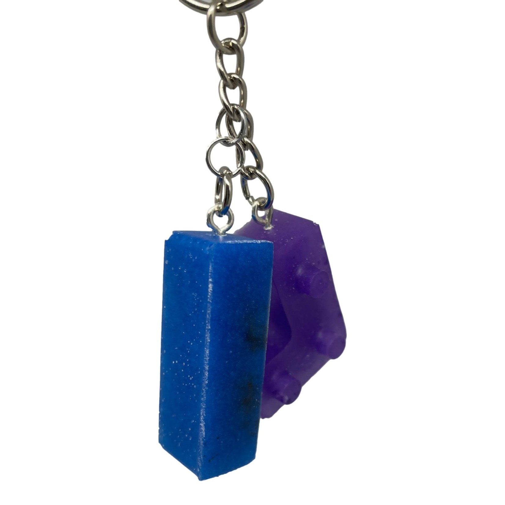 East Coast Sirens Purple & Blue Lego Key Chain
