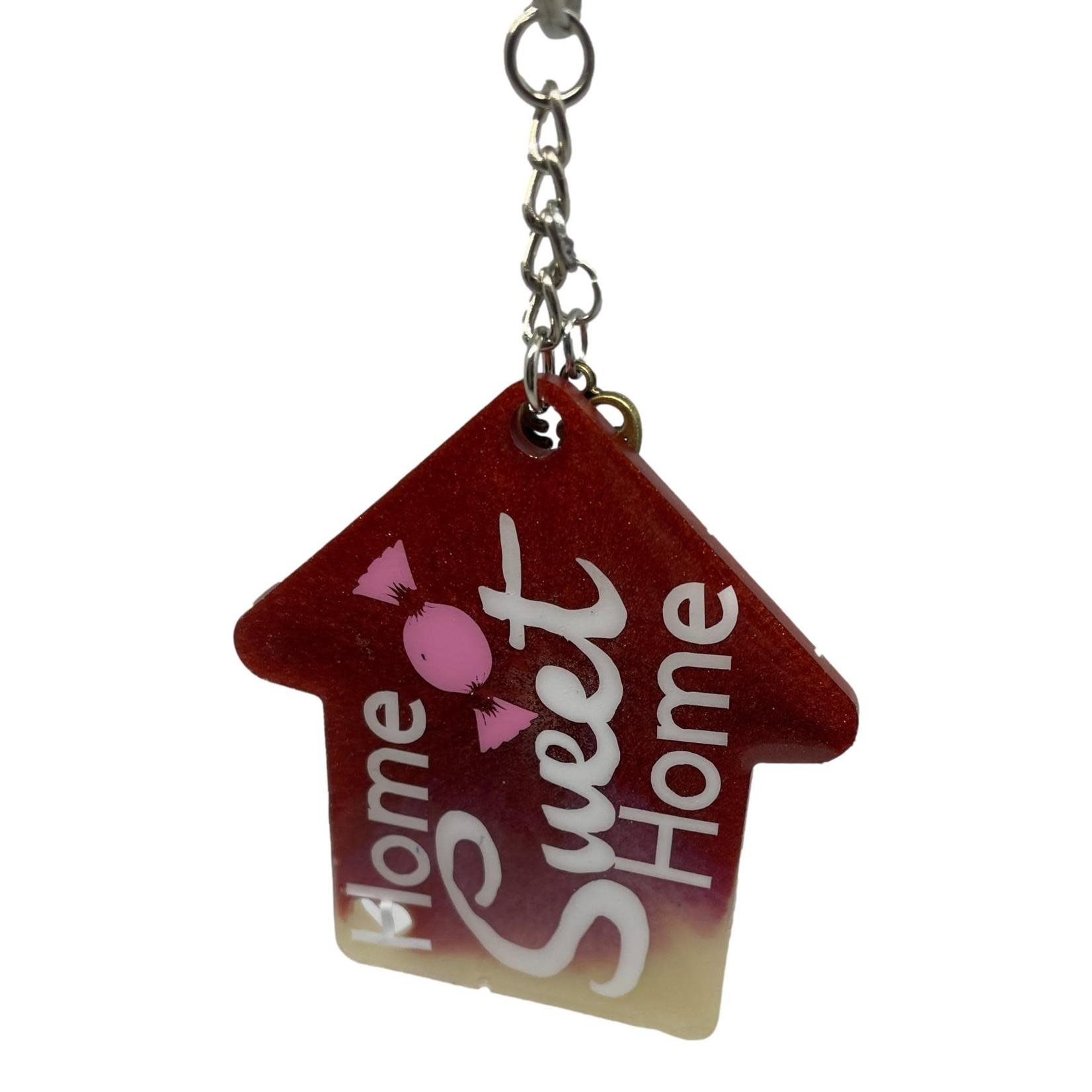 East Coast Sirens Home Sweet Home House Key Chain