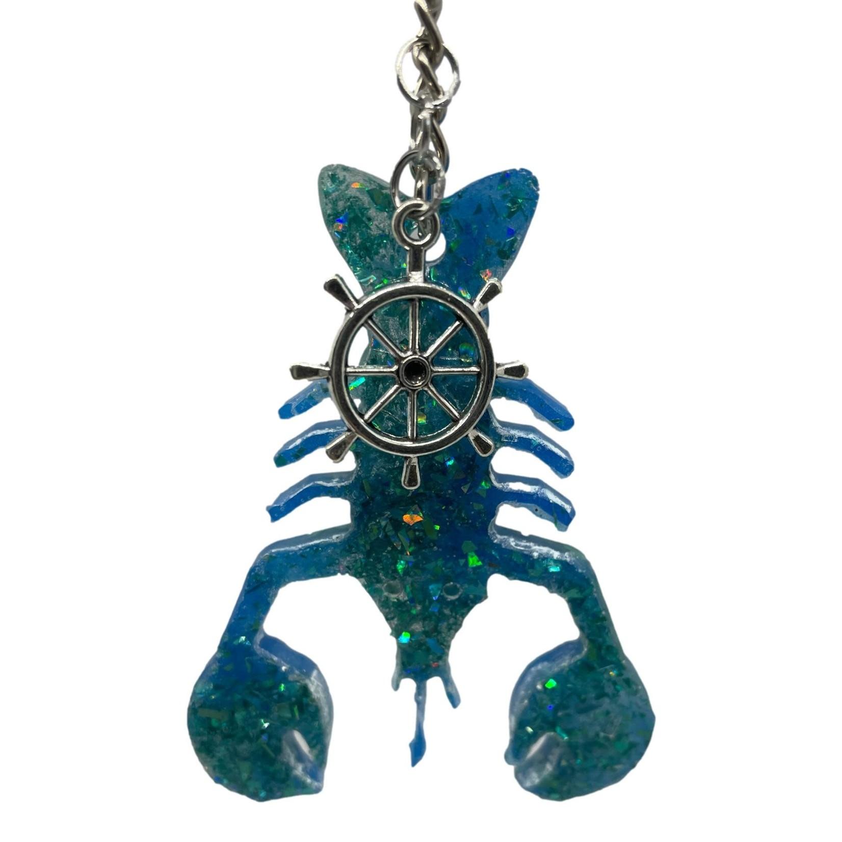 East Coast Sirens Blue & Teal Lobster Key Chain
