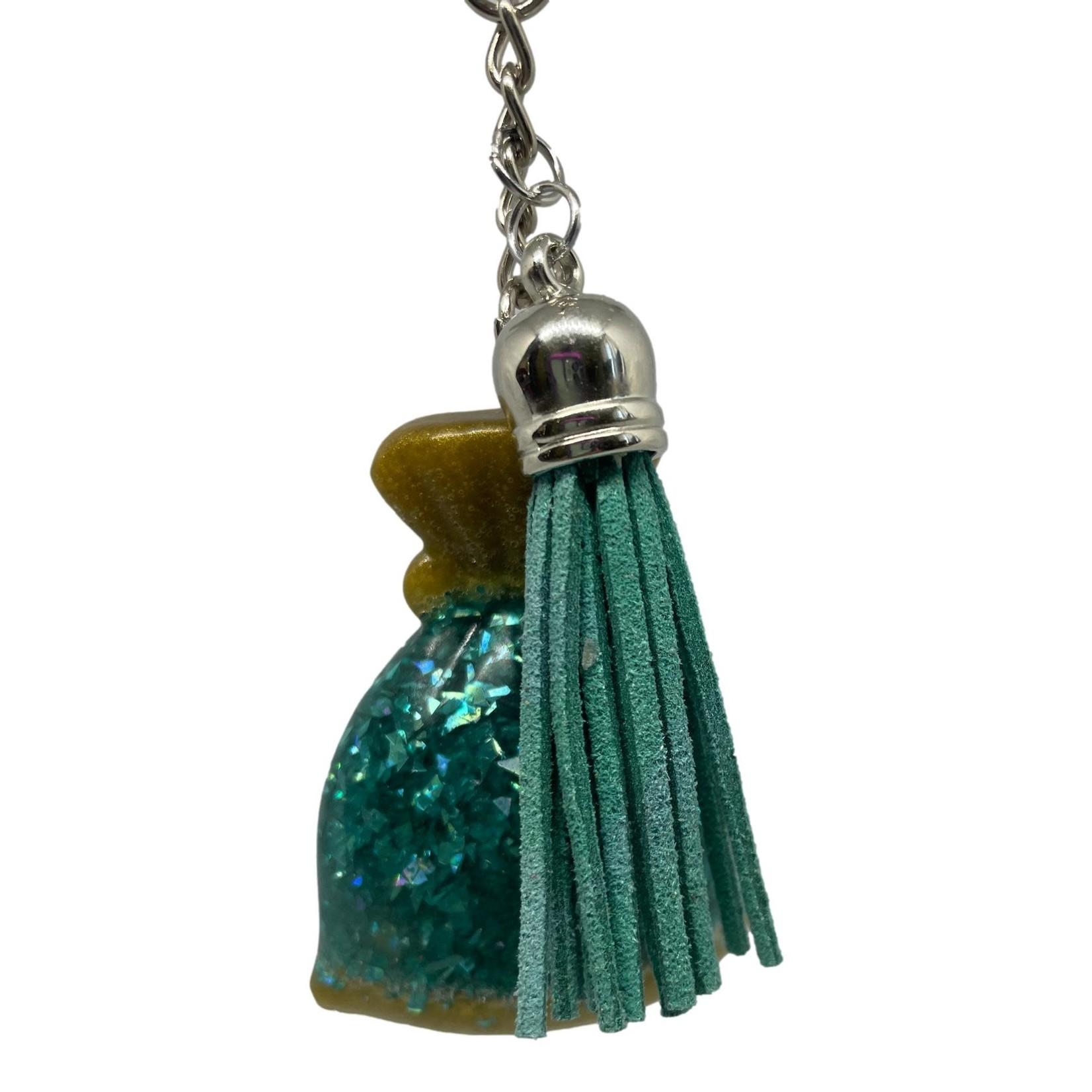 East Coast Sirens Sea Glitter in a Bag Key Chain