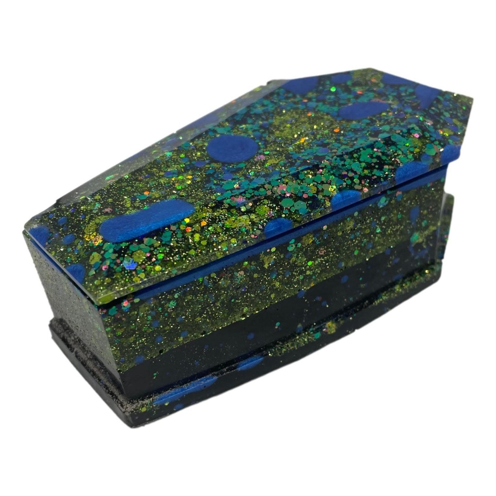 East Coast Sirens Blue Splotch Coffin Trinket Box