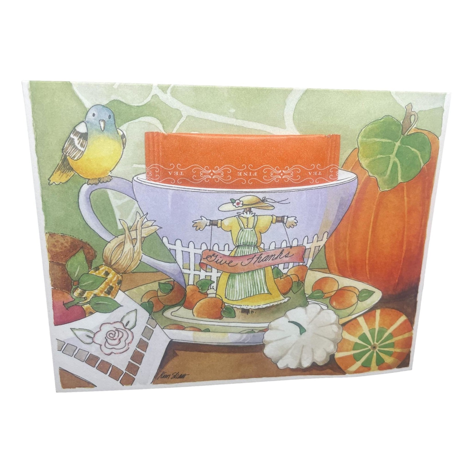 Kimberly Shaw Give Thanks Teacup Card