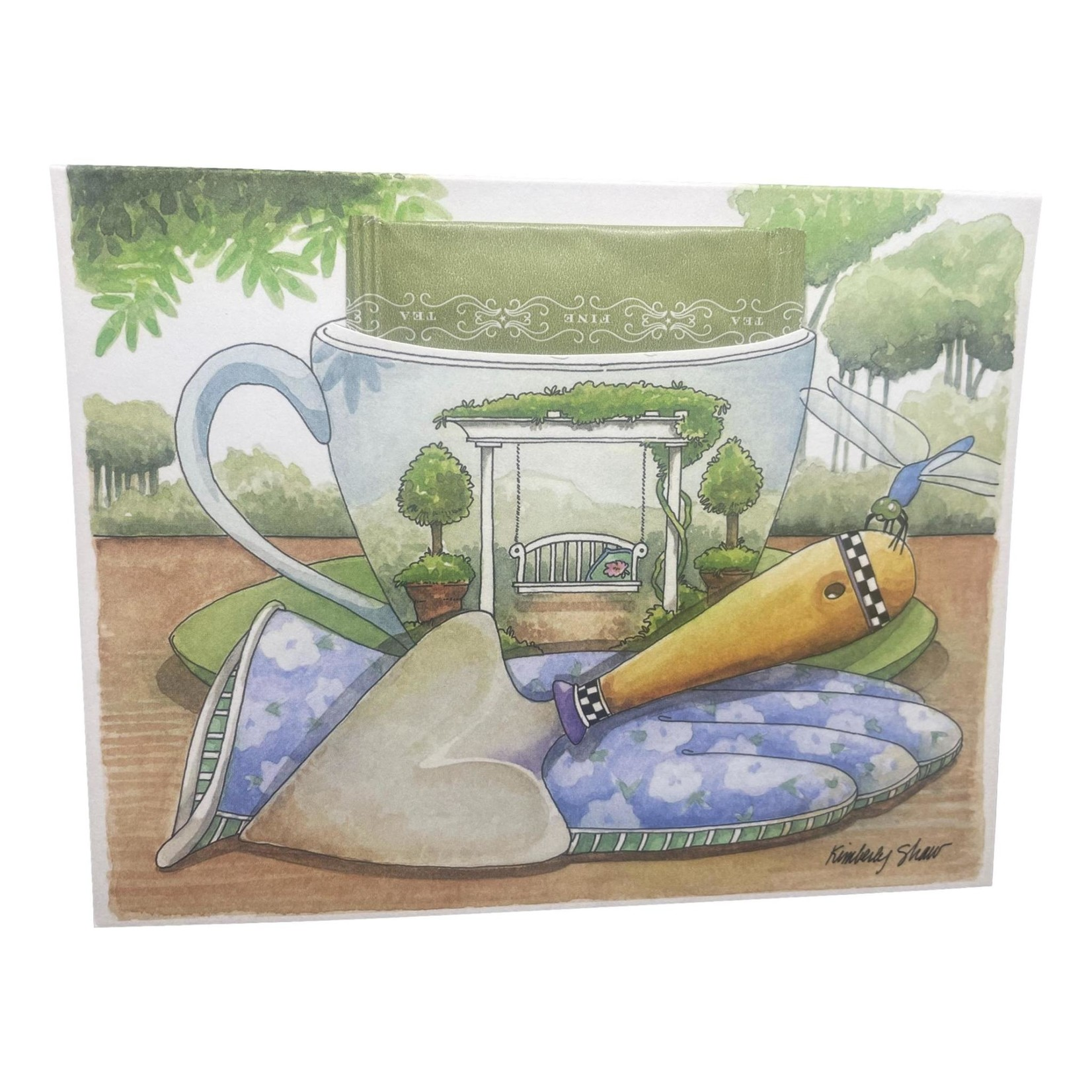 Kimberly Shaw Garden Teacup Card