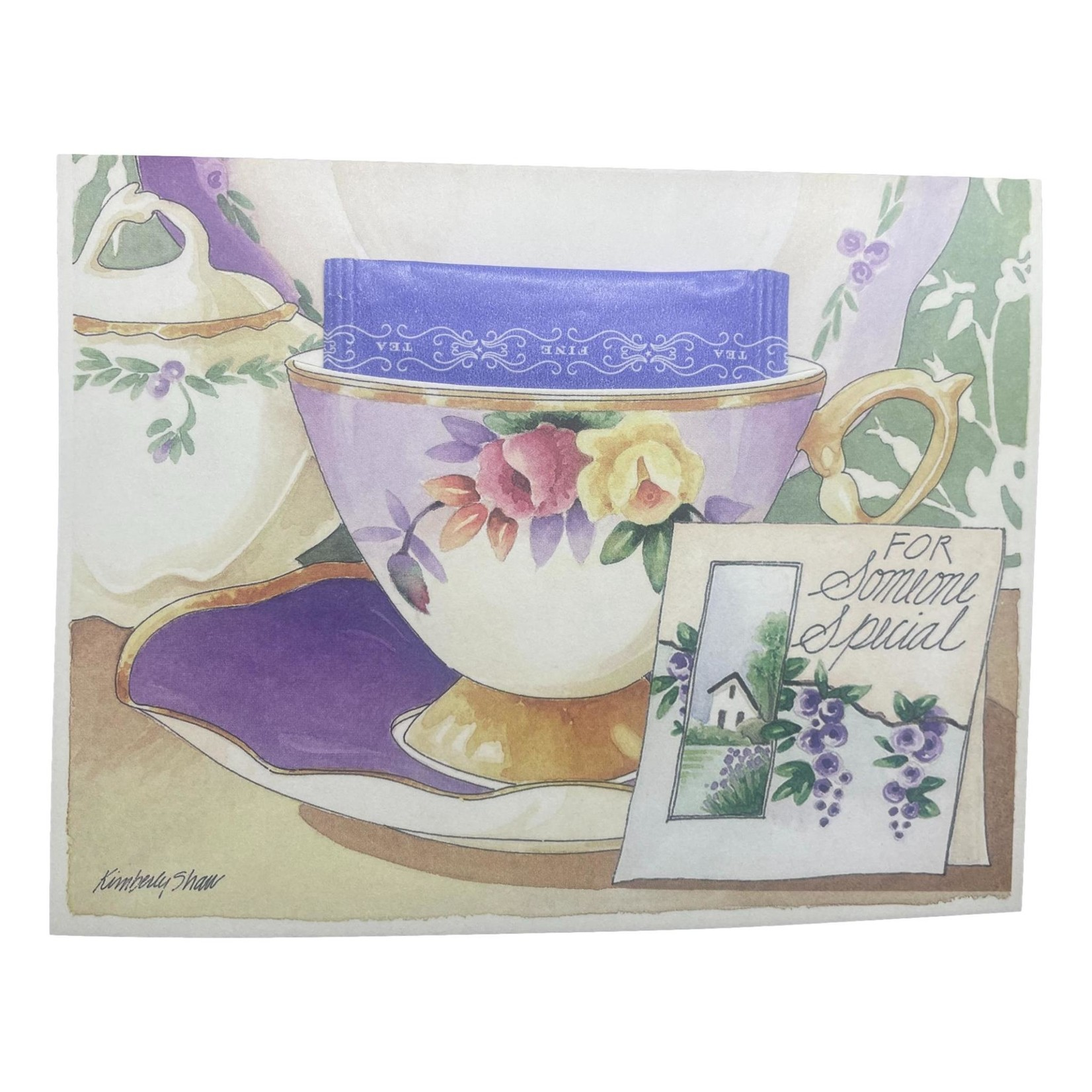 Kimberly Shaw For Someone Special Teacup Card