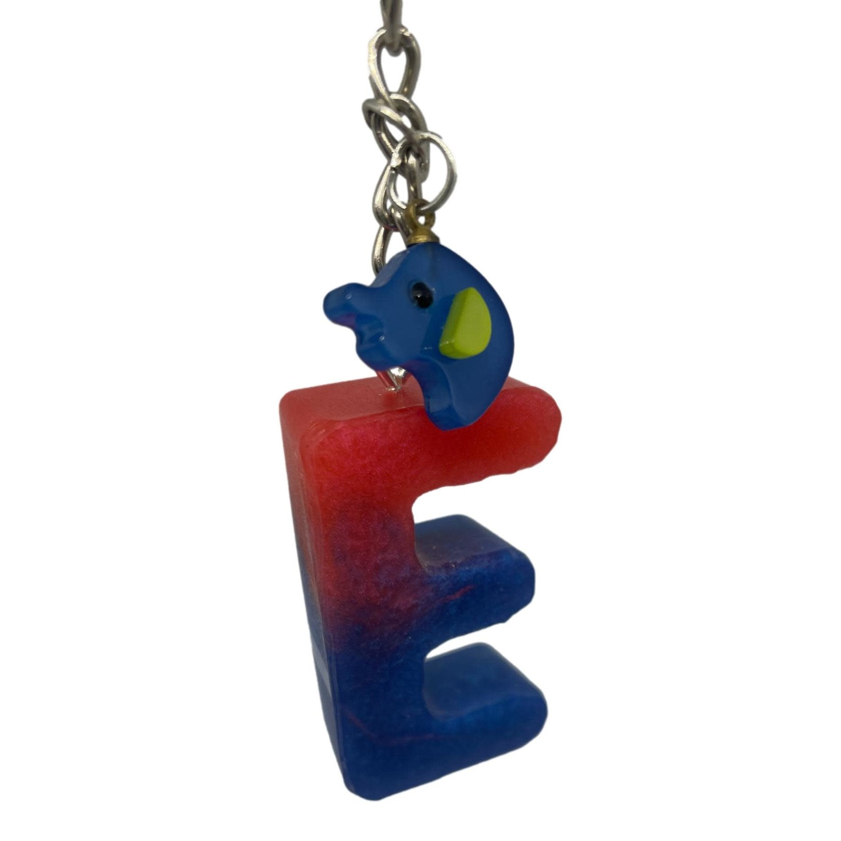 East Coast Sirens Blue and Red Alphabet Key Chain