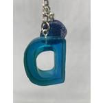 East Coast Sirens Ocean Blue Alphabet Key Chain