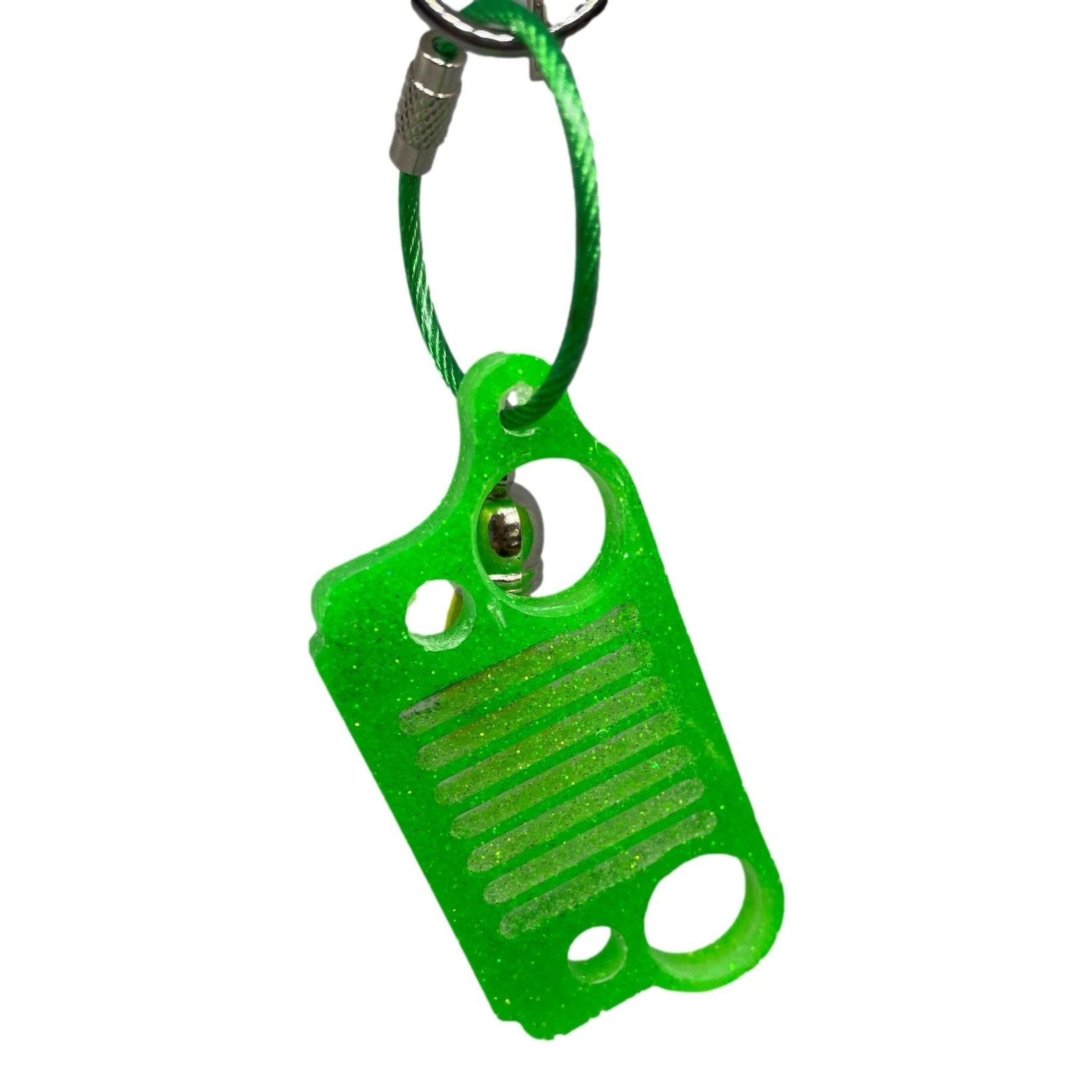 East Coast Sirens Lime Green Jeep Grill Key Chain