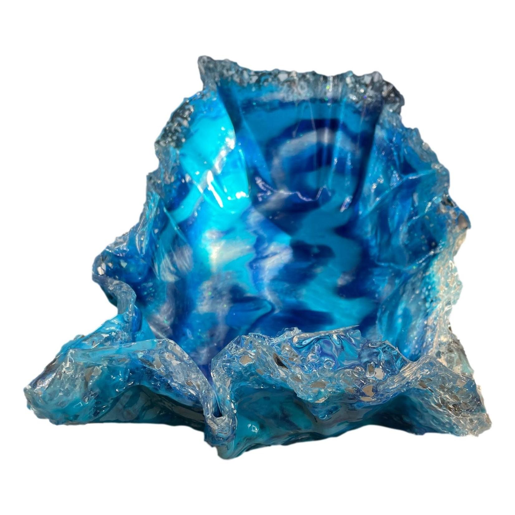 "East Coast Sirens Blue Oblong Dish 11""x8""5"""