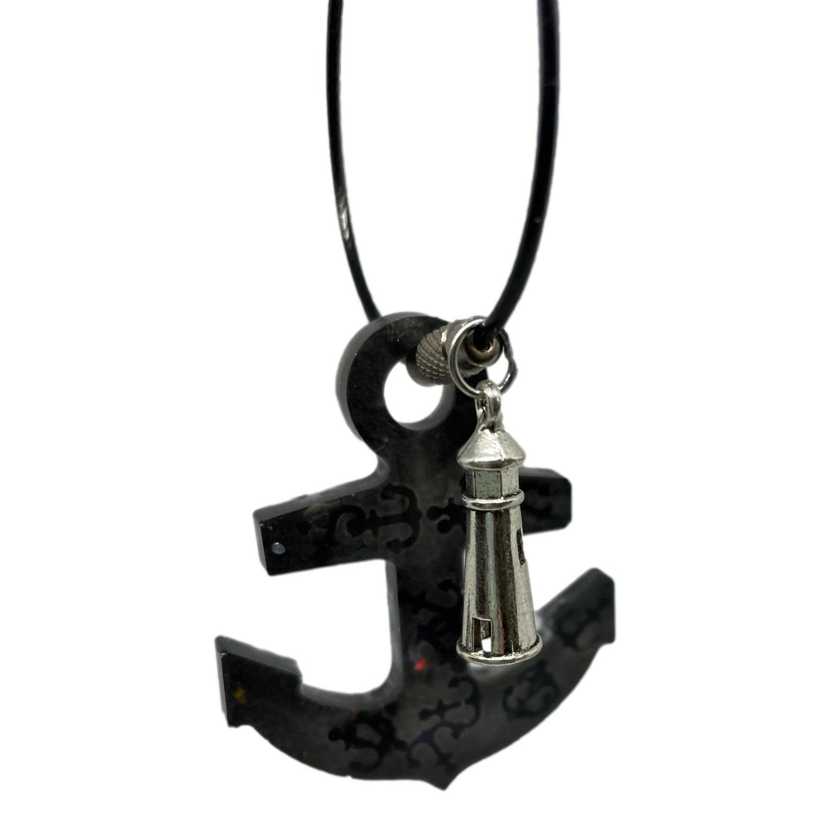 East Coast Sirens Black Anchor Key Chain w/Holographic Anchors