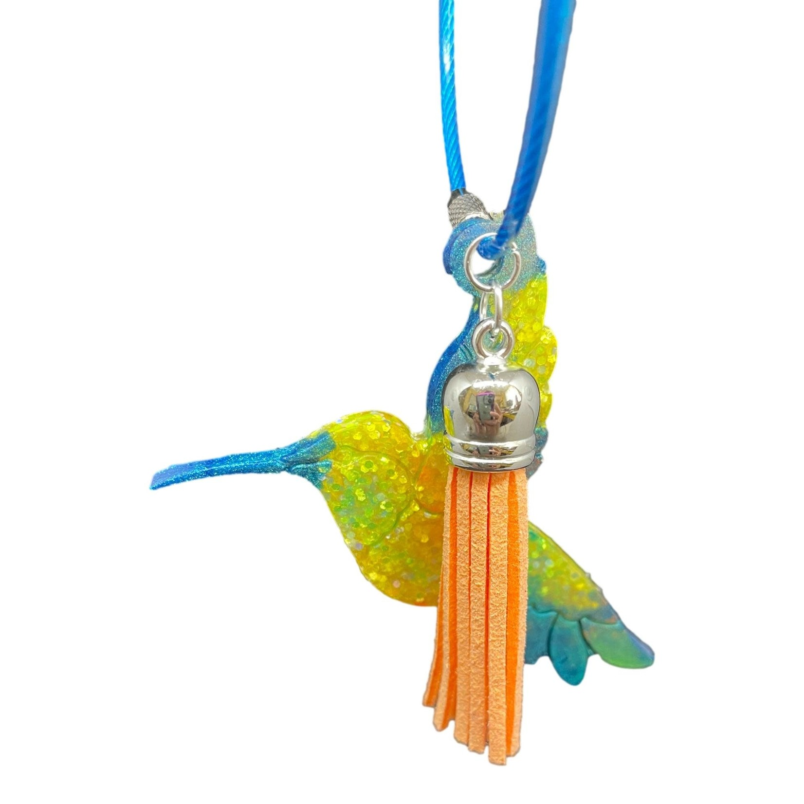 East Coast Sirens Green & Yellow Hummingbird Key Chain