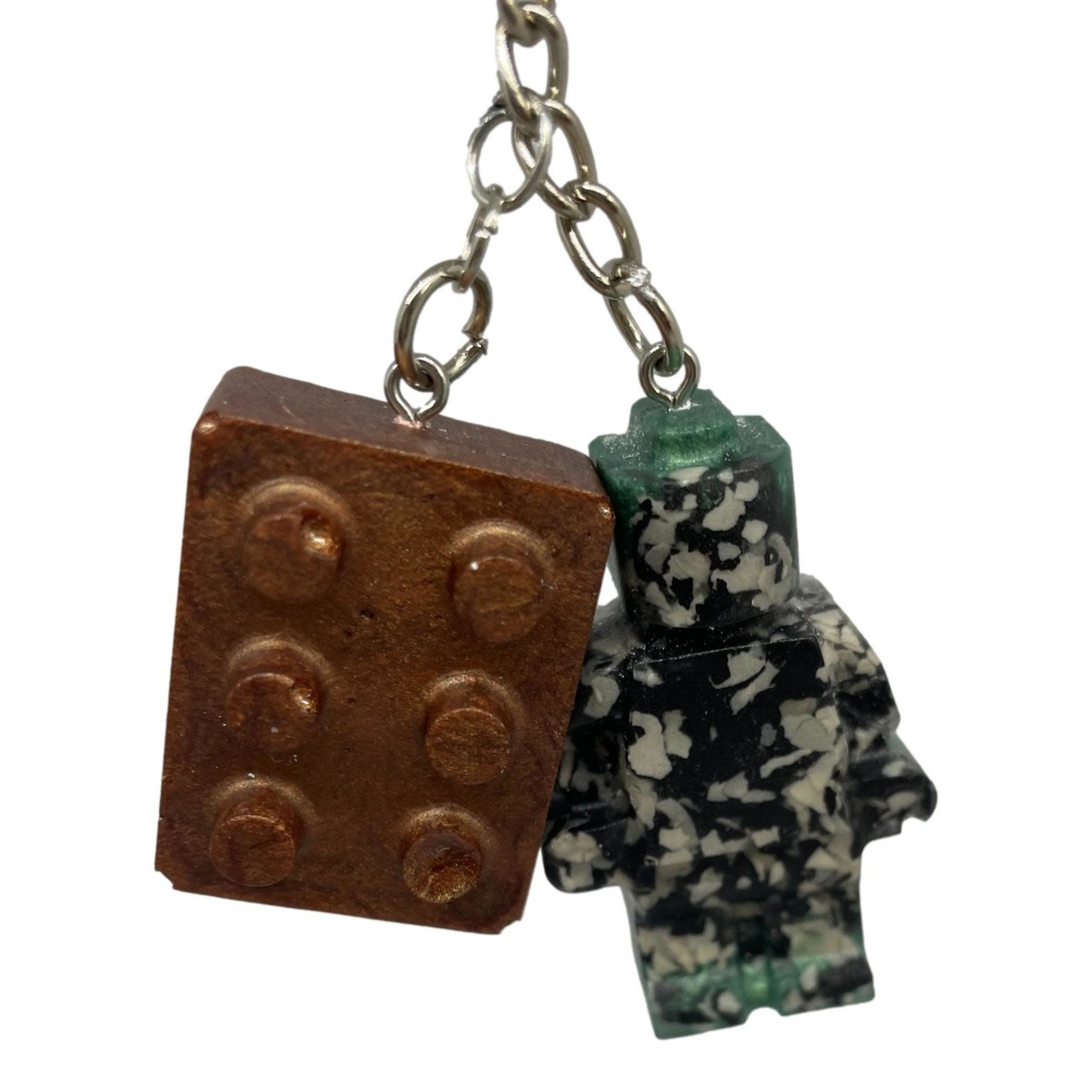 East Coast Sirens Camo Lego Man Key Chain