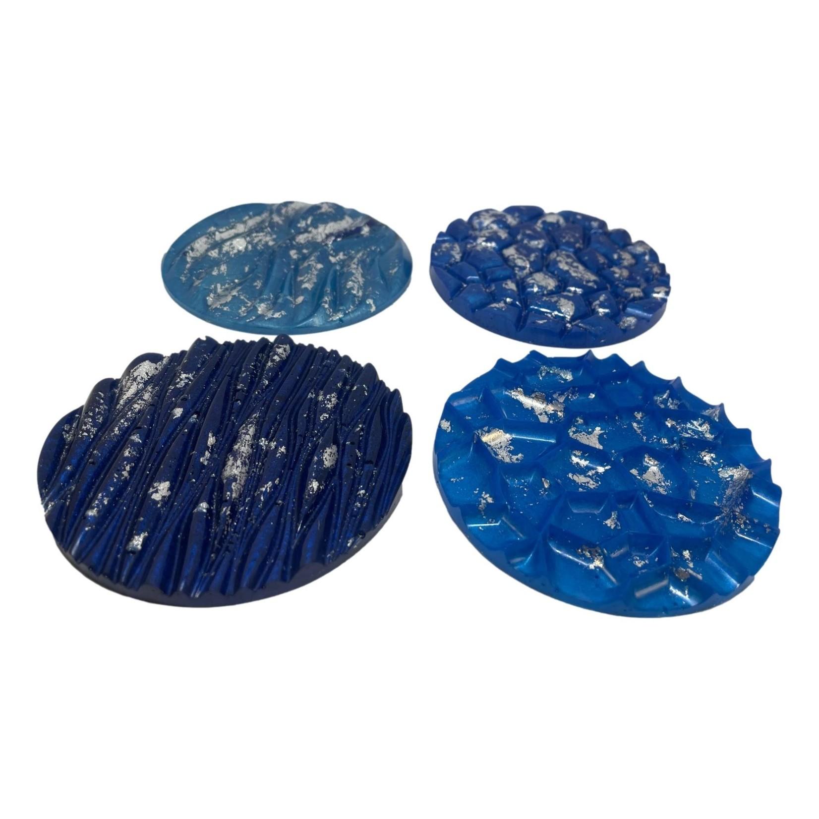 East Coast Sirens Blue Coaster Set with Tray