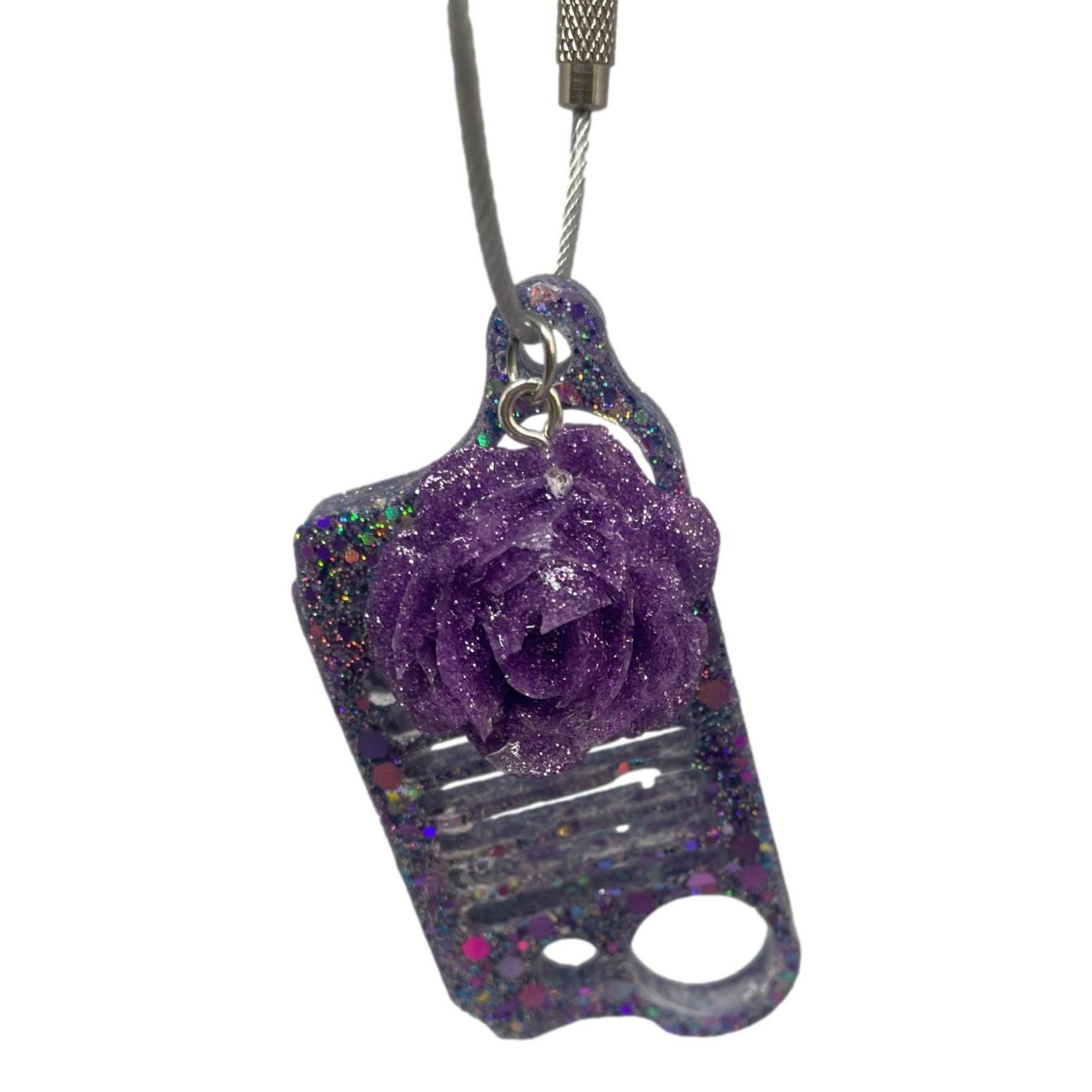 East Coast Sirens Purple Glitter Jeep Grill Key Chain