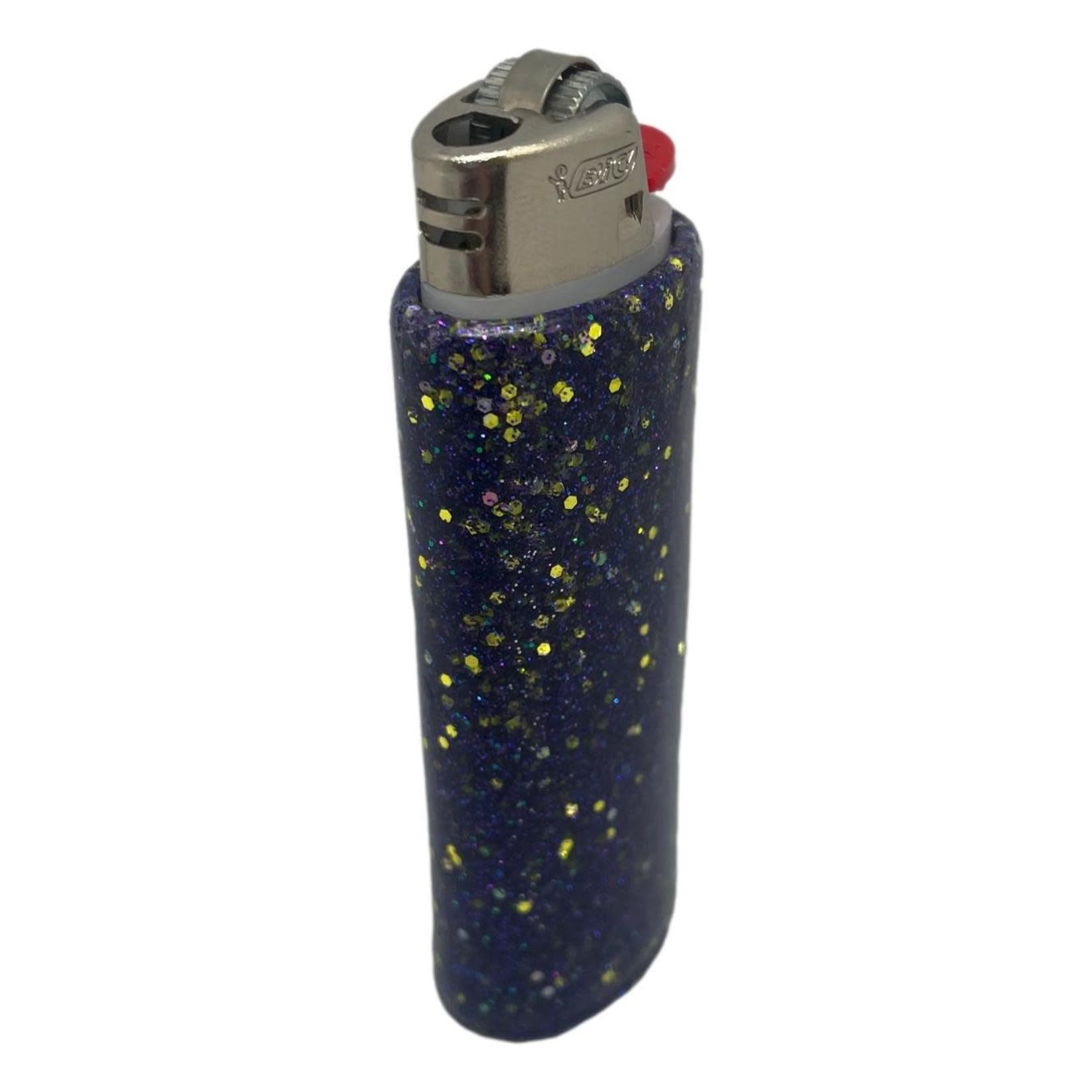 East Coast Sirens Purple Glitter Lighter Case (Small)
