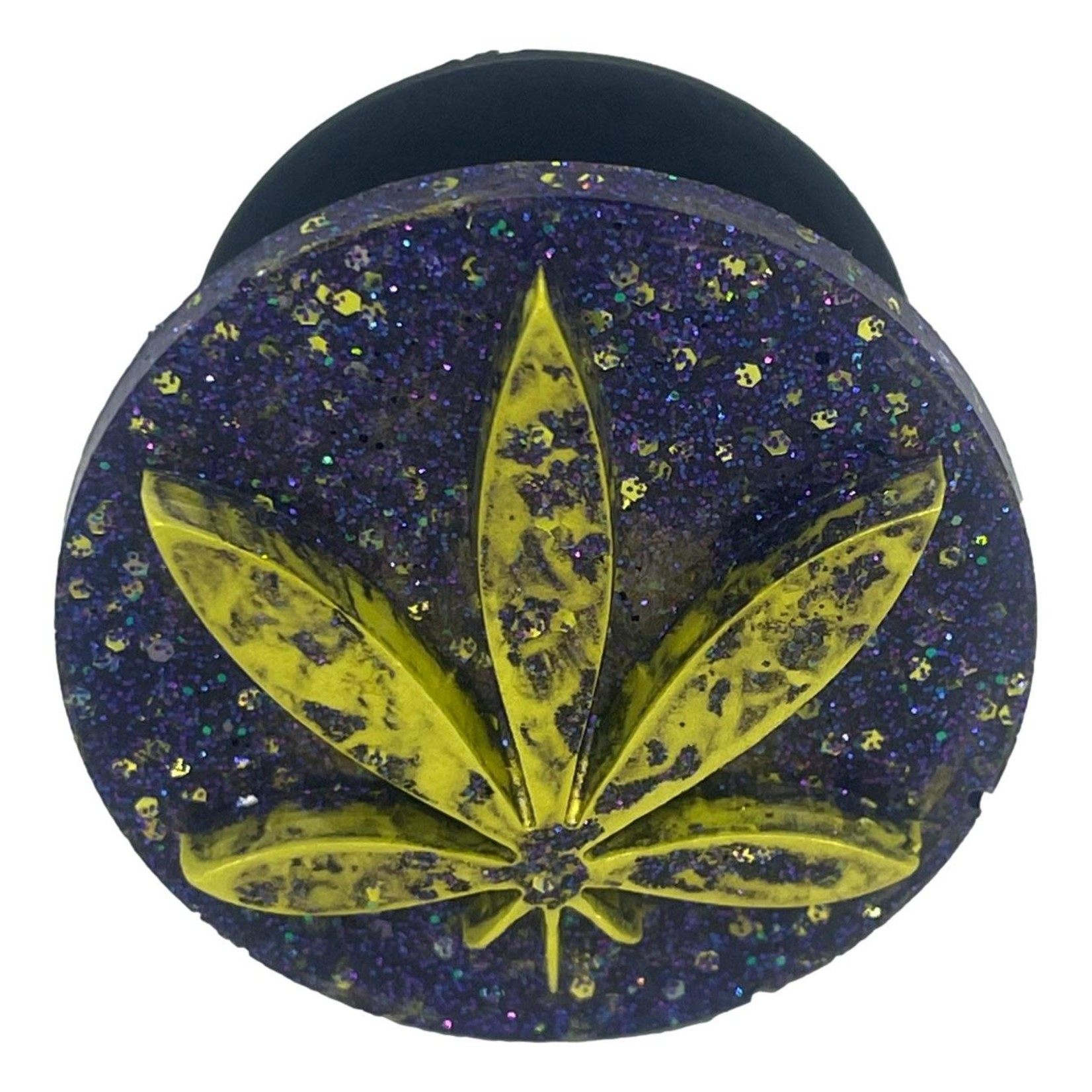 East Coast Sirens Yellow & Purple Weed Leaf Phone Grip