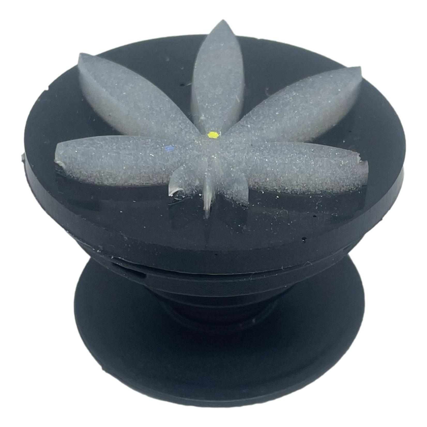 East Coast Sirens Black & White Weed Leaf Phone Grip