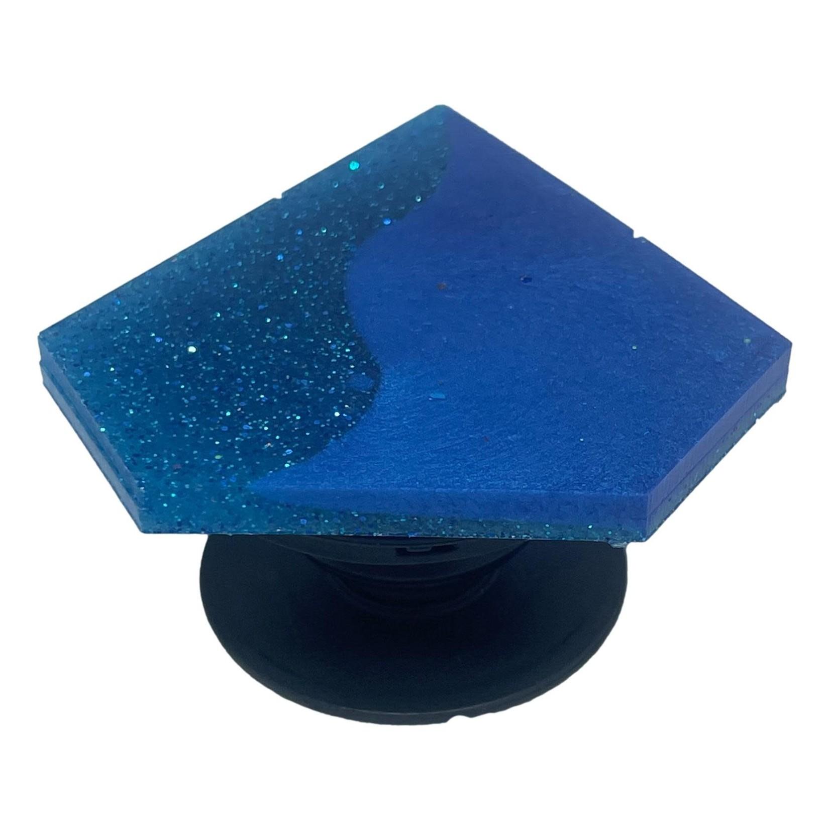 East Coast Sirens Two-tone Blue Geometric Phone Grip
