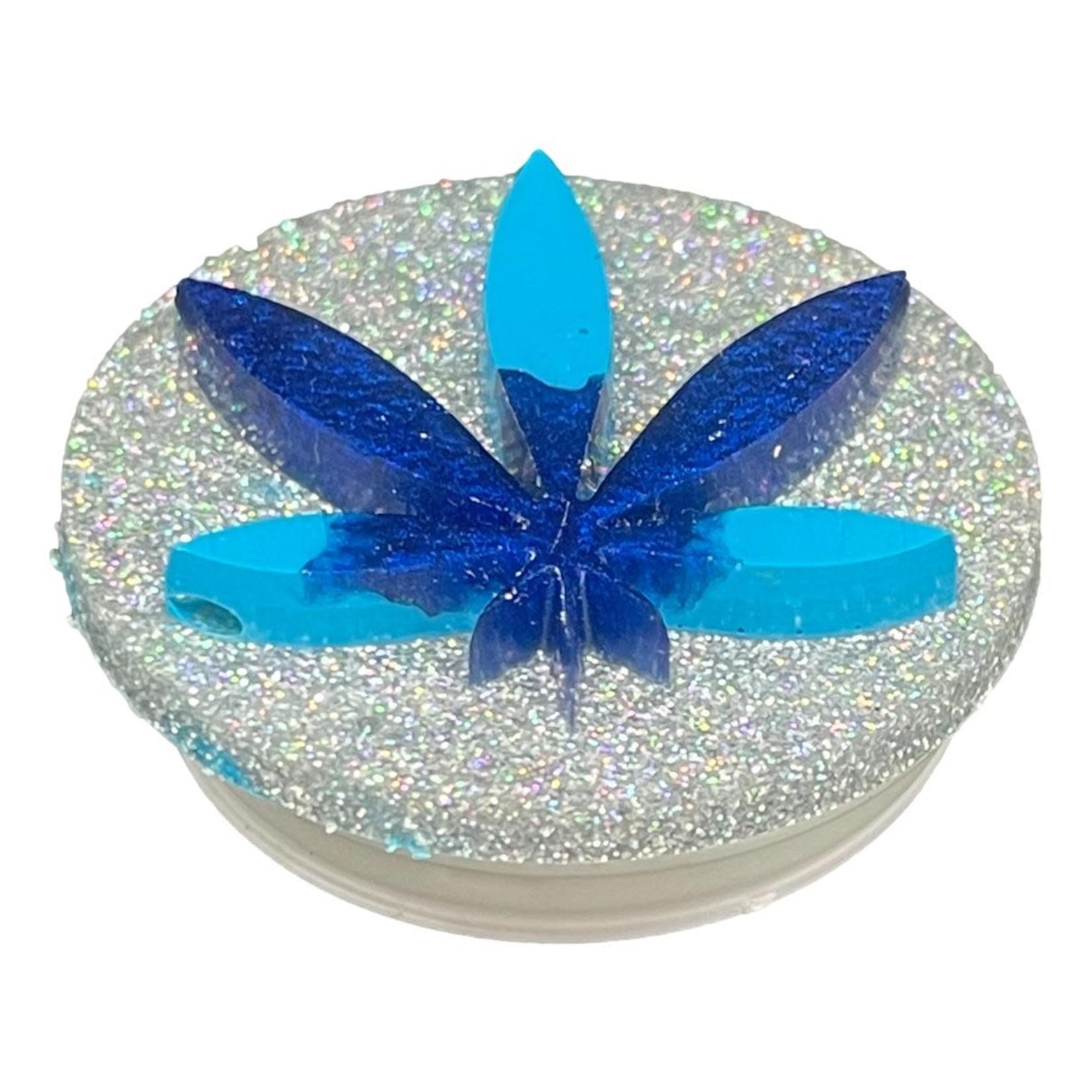 East Coast Sirens Two-tone Blue Weed Leaf Phone Grip