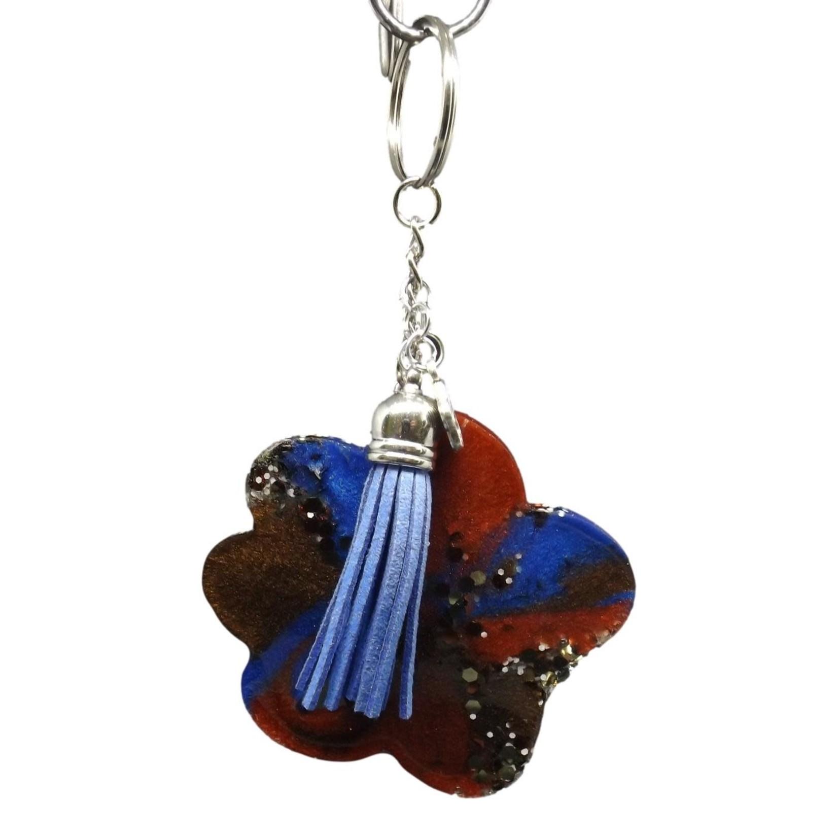East Coast Sirens Multi-colour Paw Print Key Chain Charm