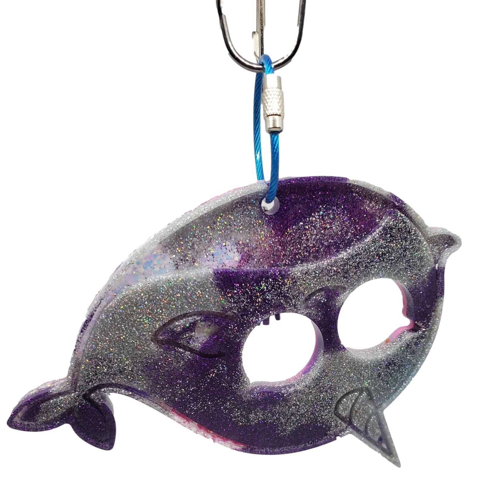 East Coast Sirens Purple Narwhale Keychain - Large