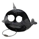 East Coast Sirens Black & Grey Narwhale Keychain - Large