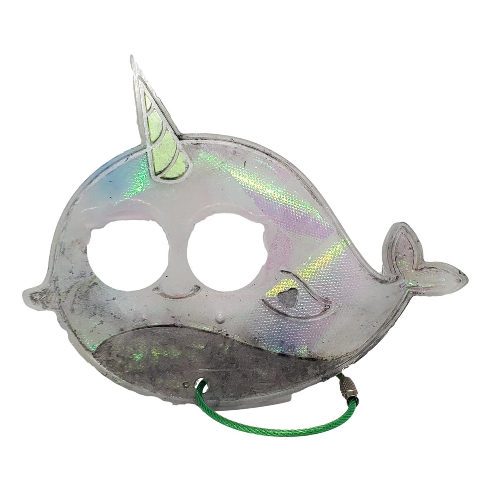 East Coast Sirens Grey Narwhale Keychain - Large