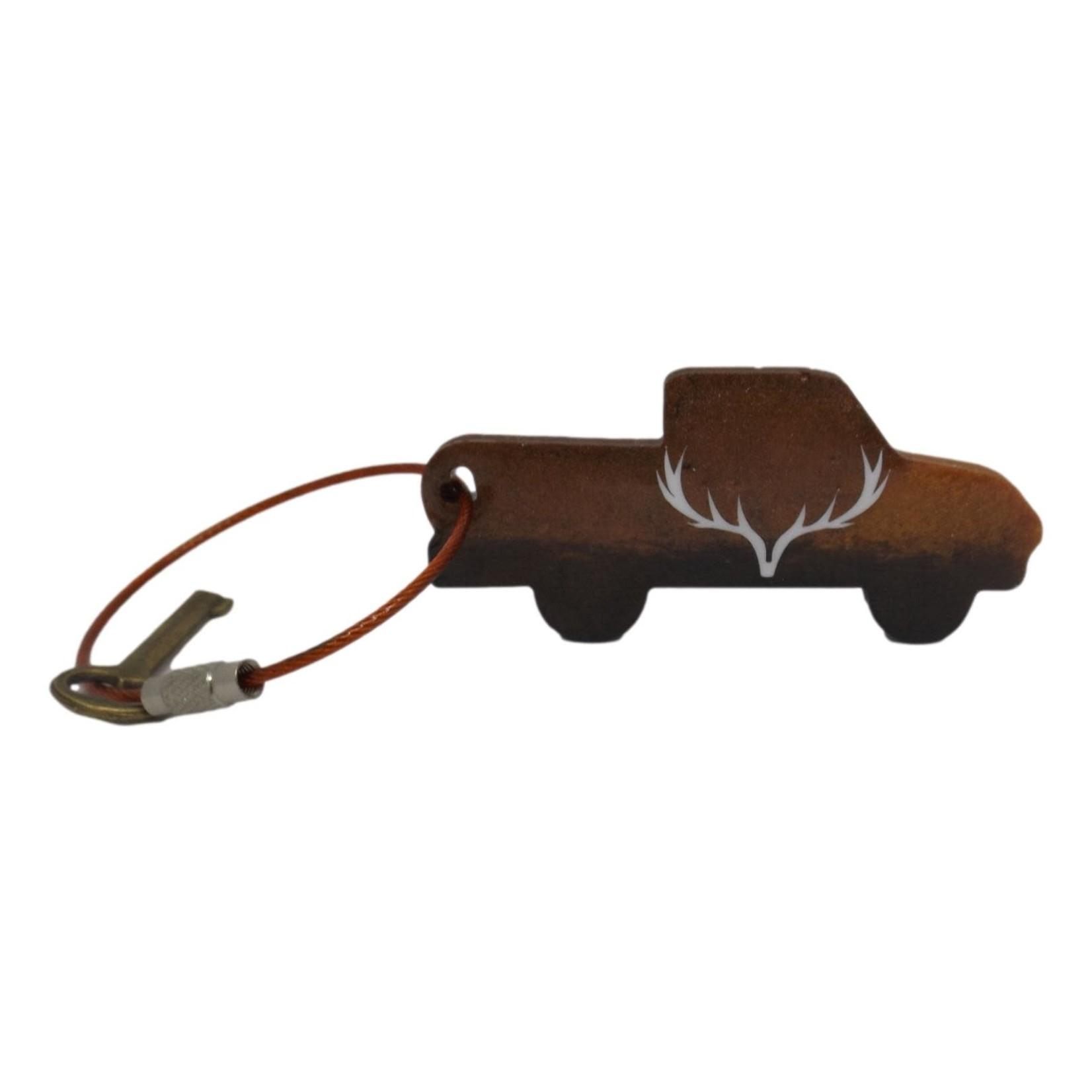 East Coast Sirens Antlers on a Truck Keychain