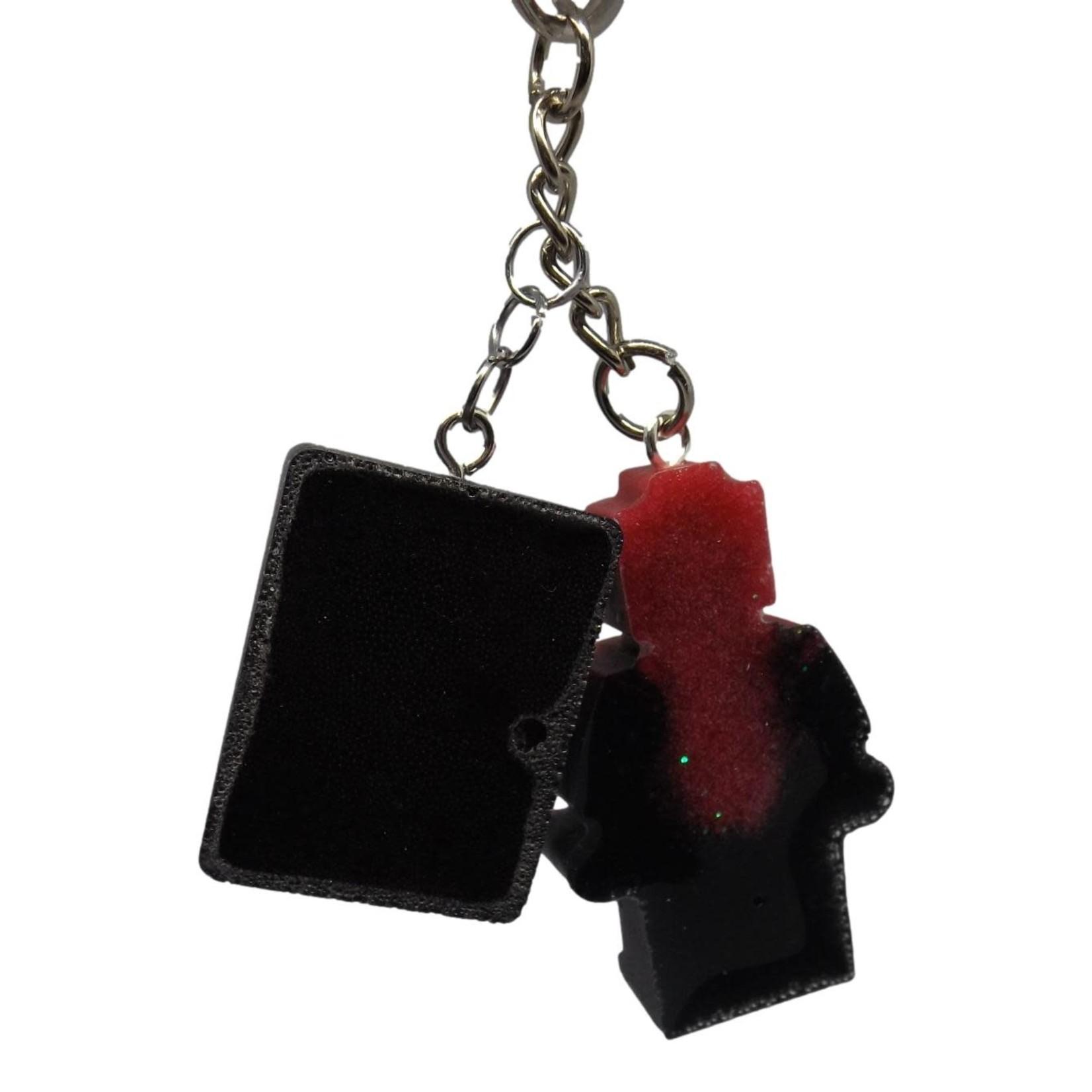 East Coast Sirens Red & Black Lego Man Key Chain