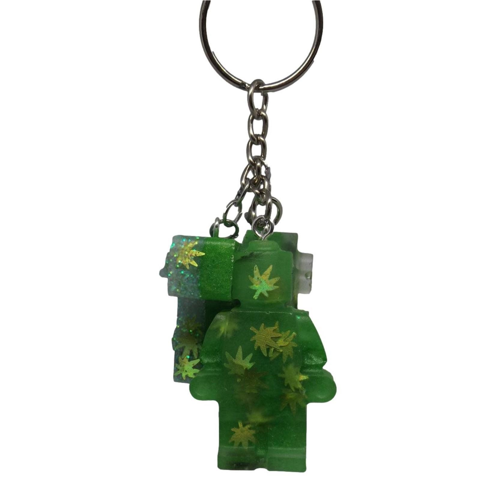 East Coast Sirens Pot Lego Man & Blocks Key Chain