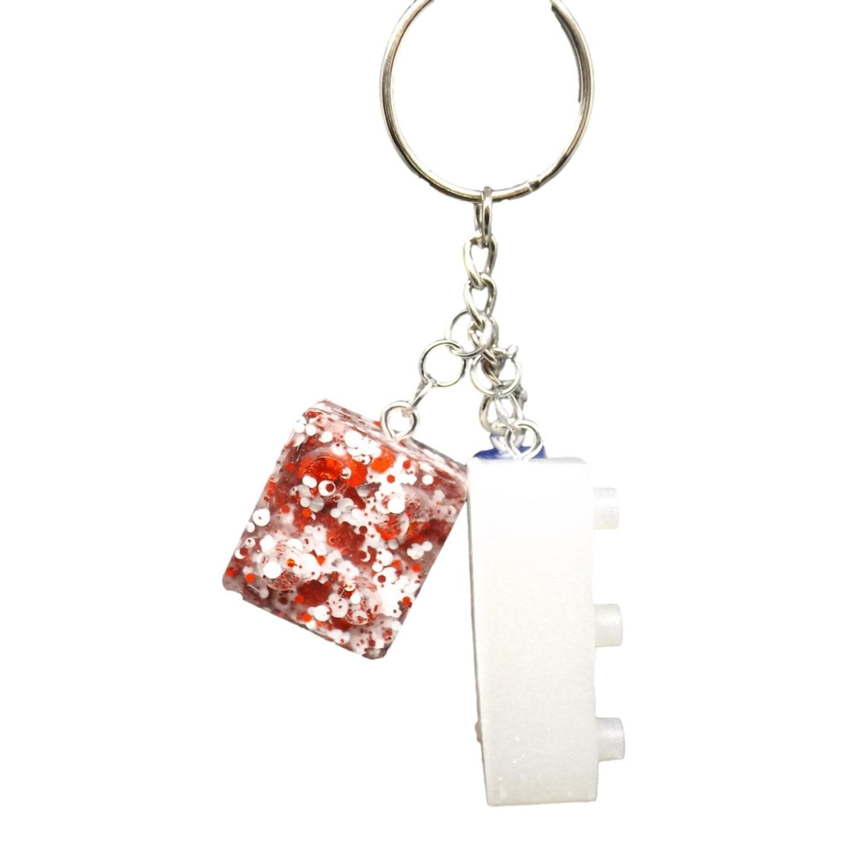 East Coast Sirens Red, White & Blue Lego Key Chain