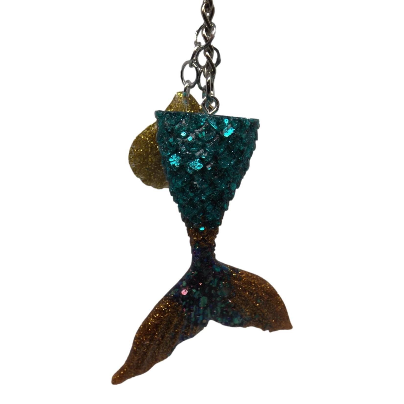 East Coast Sirens Loads of Glitter Mermaid Tail Keychain