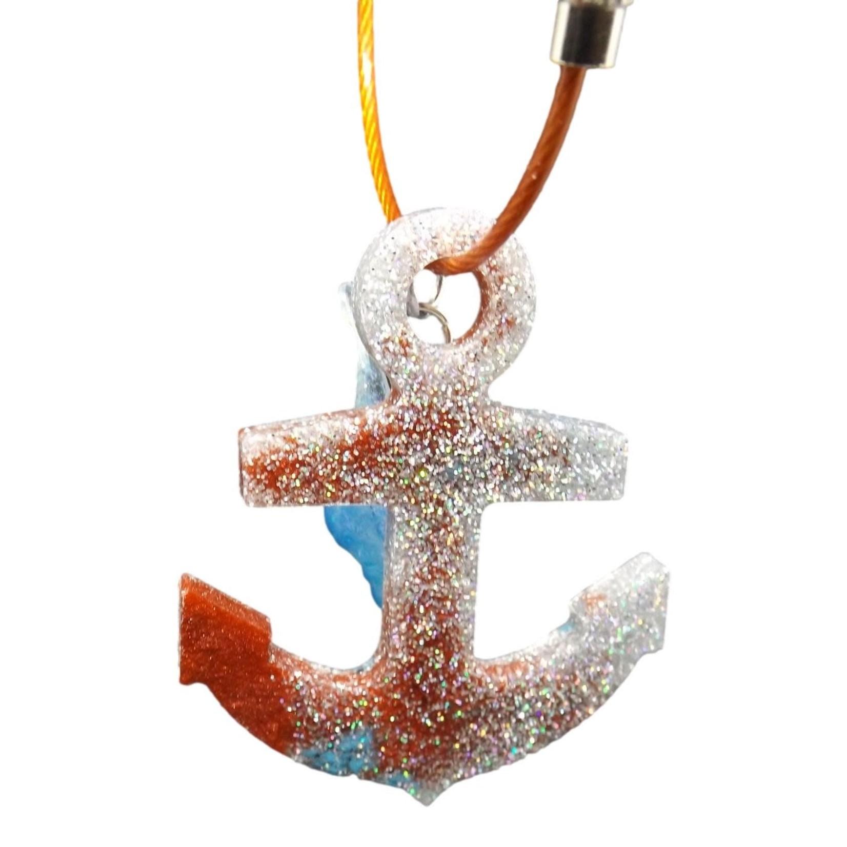 East Coast Sirens Sparkling Anchor Keychain