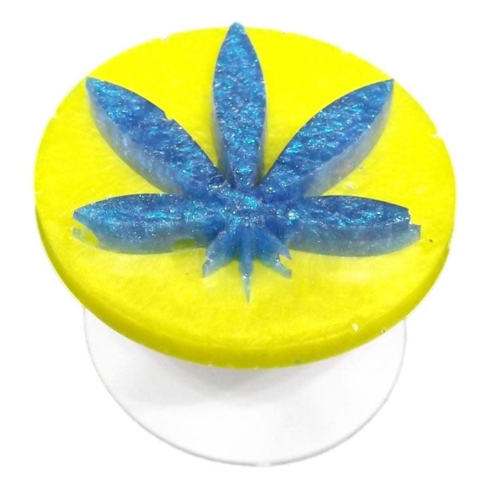 East Coast Sirens Blue on Yellow Pot Leaf Phone Grip