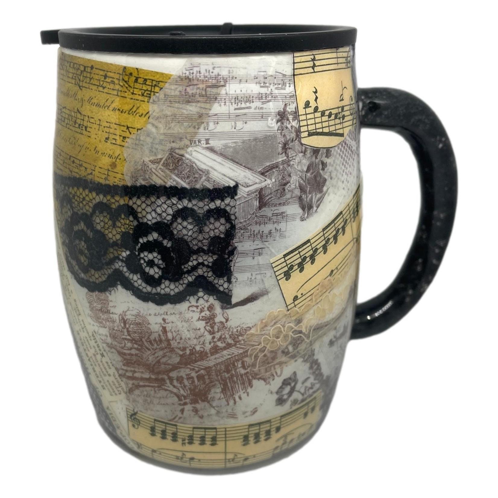 East Coast Sirens Vintage Collage Coffee Tumbler w/Handle 14oz