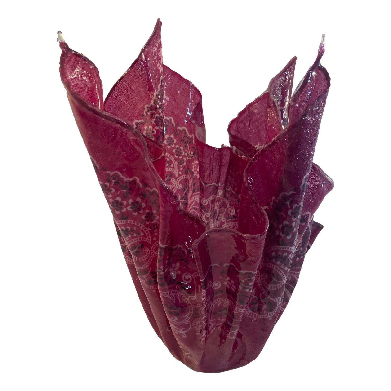 East Coast Sirens Burgundy Hanky Vase