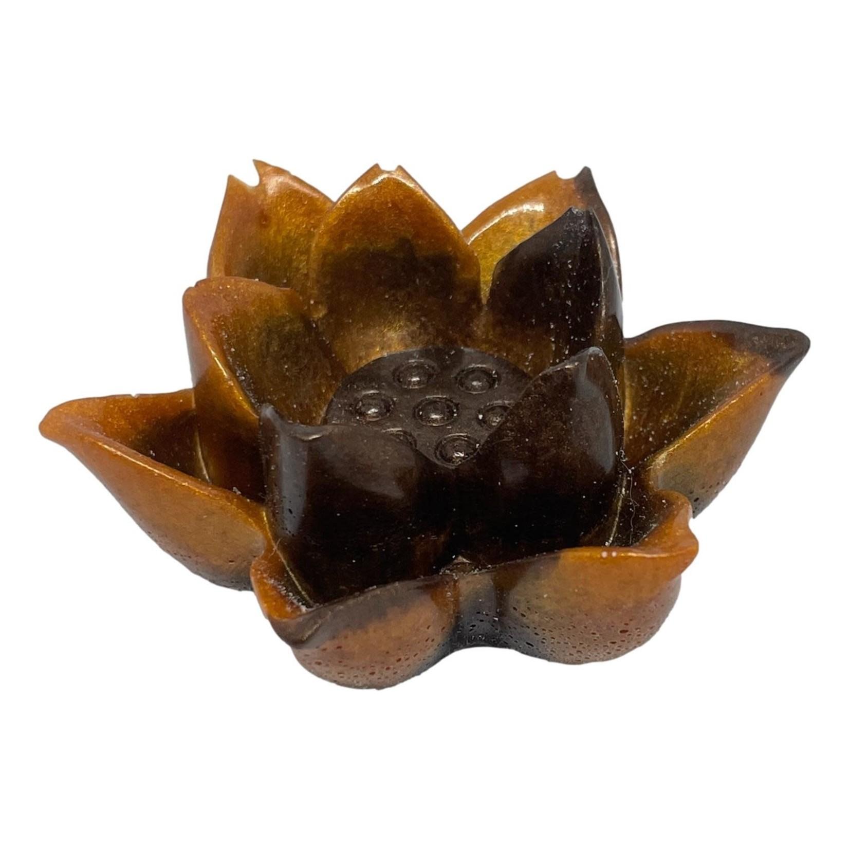 East Coast Sirens Black & Copper Flower Ring Holder
