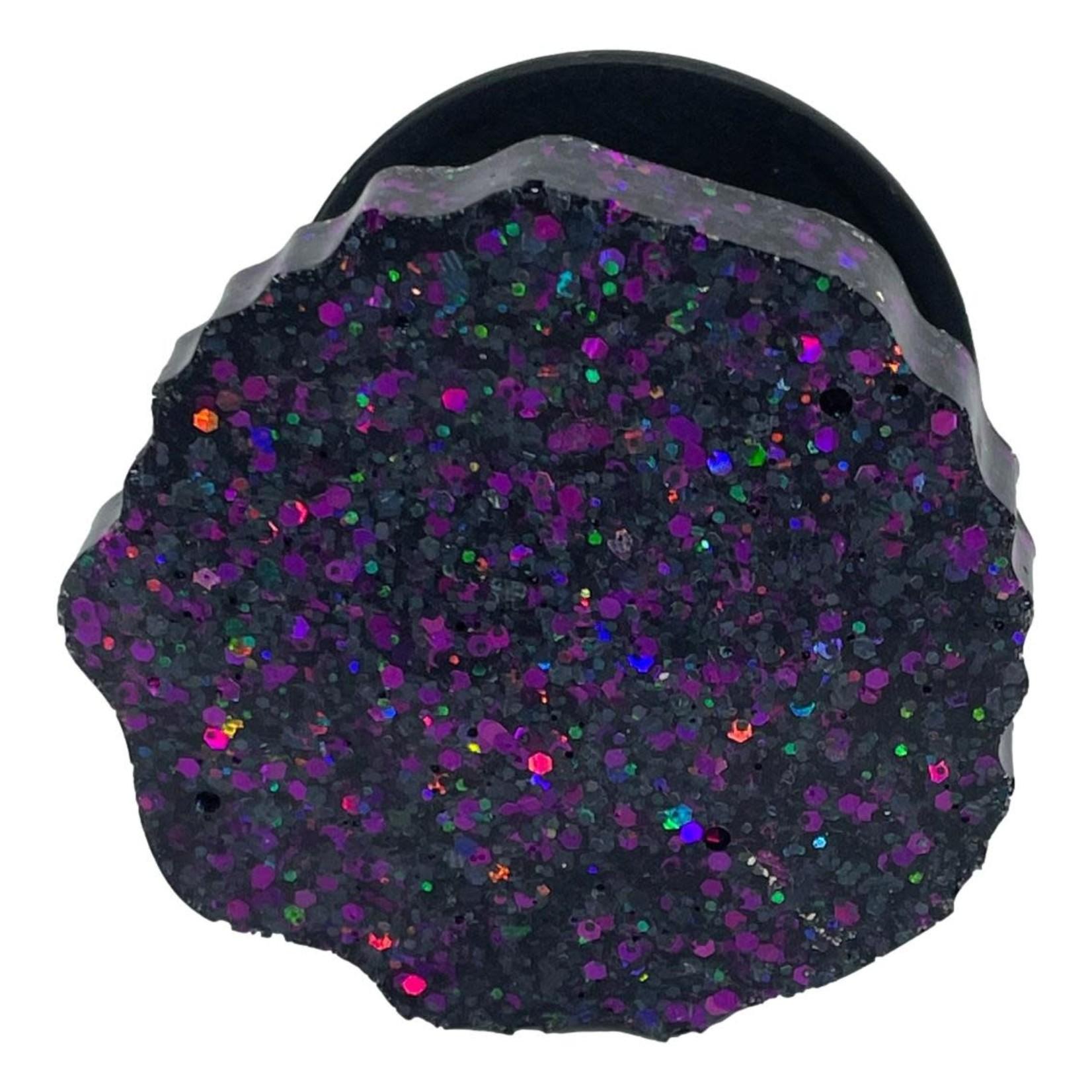 East Coast Sirens Black & Purple Glitter Geode Phone Grip