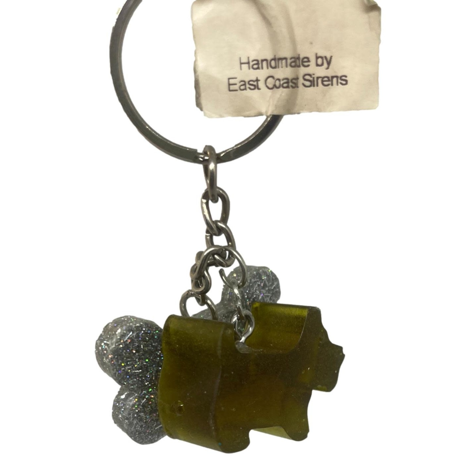 East Coast Sirens Dog & Bone Keychain