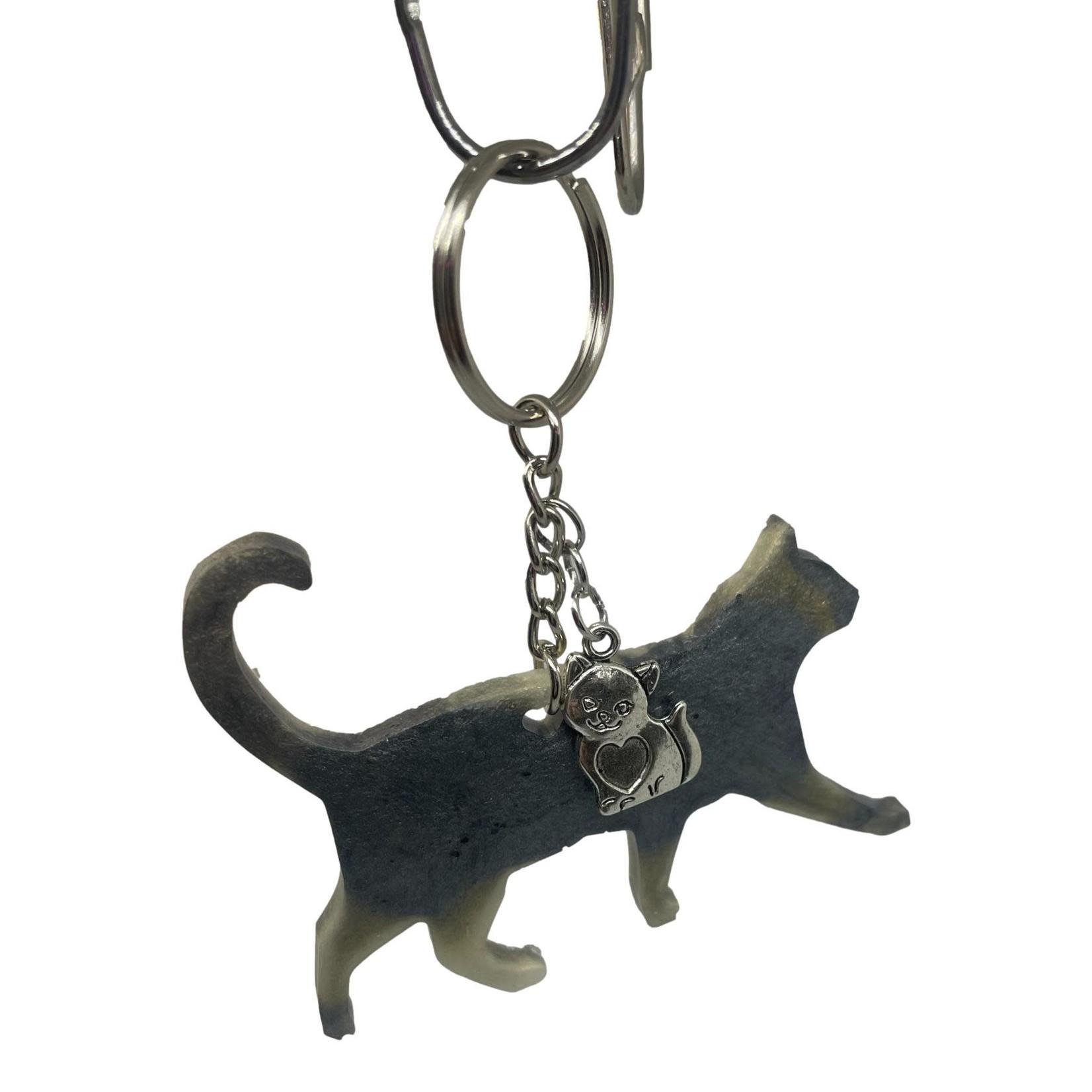 East Coast Sirens Grey Walking Cat Keychain