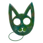 East Coast Sirens Large Green Cat Self Defence Keychain