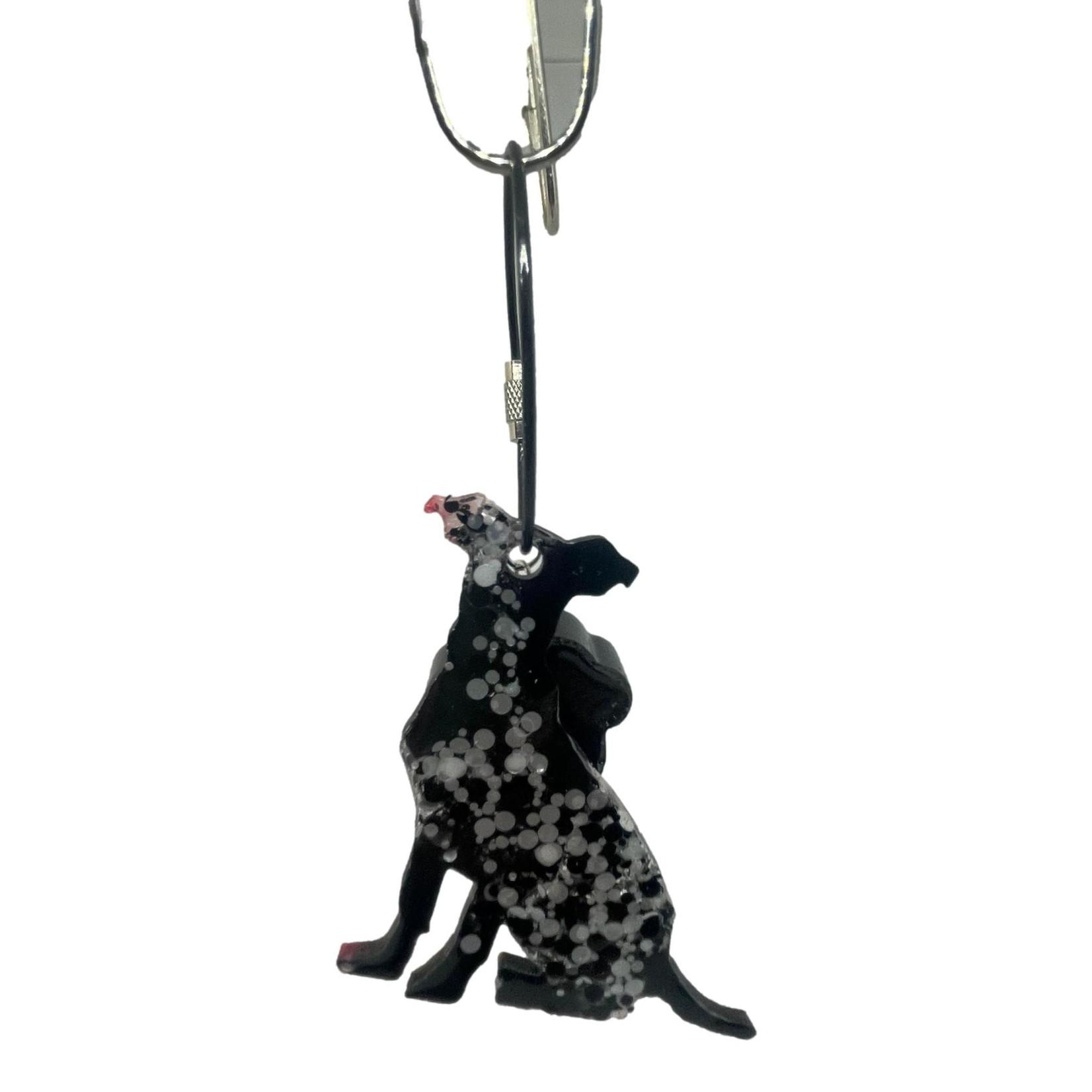 East Coast Sirens Black & White Dog Keychain