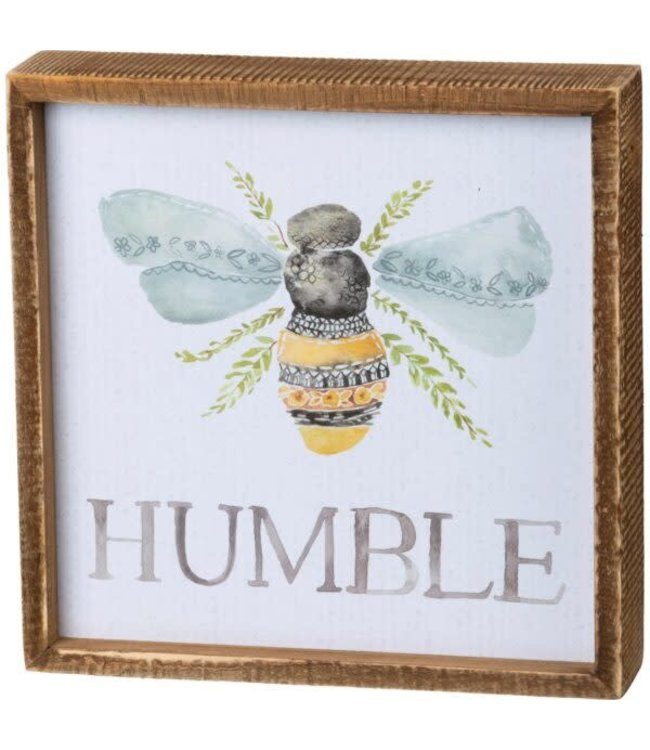 Primitives By Kathy Inset Box Sign - Humble