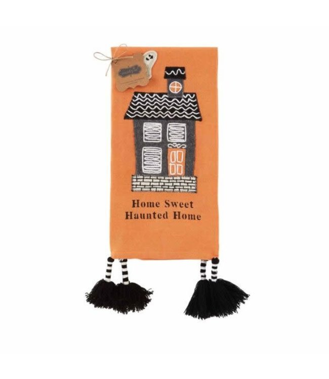 MudPie Haunted House Towels - Home Sweet Haunted House