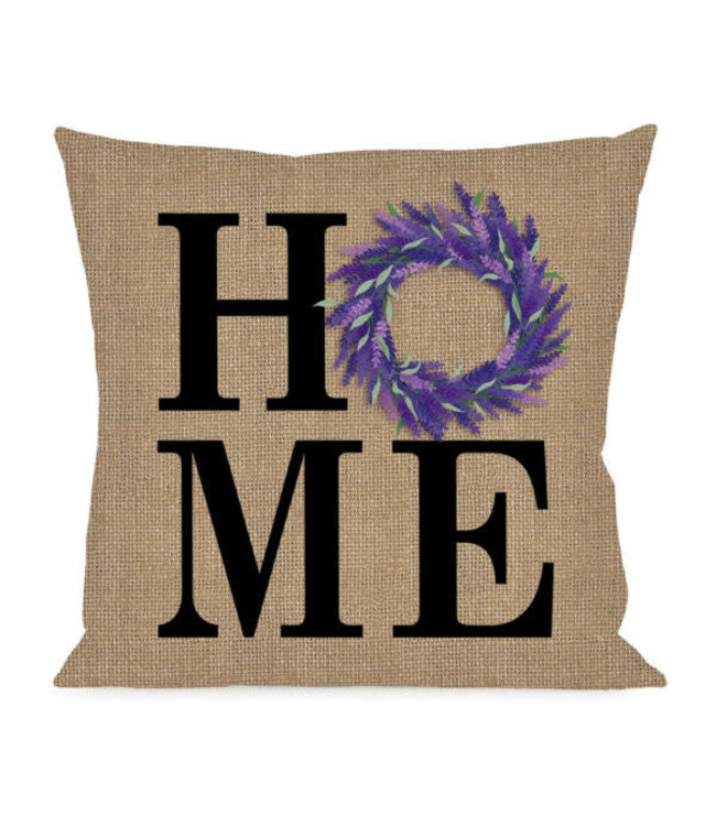 Evergreen HOME Lavender Wreath Interchangeable Pillow Cover