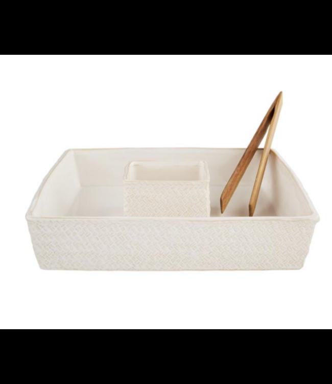 MudPie Basket Weave Chip & Dip Set