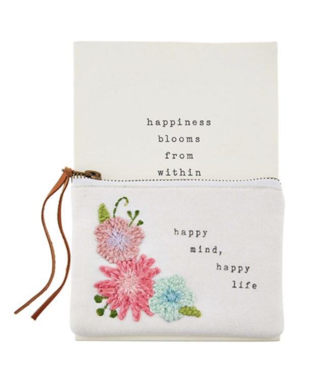 MudPie Happy Life Notebook and Pouch Set