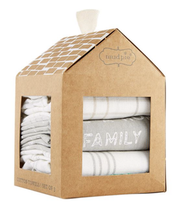MudPie Gray Home Towel Set