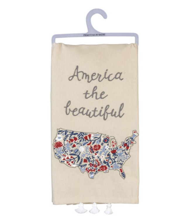 Primitives By Kathy Dish Towel - America The Beautiful